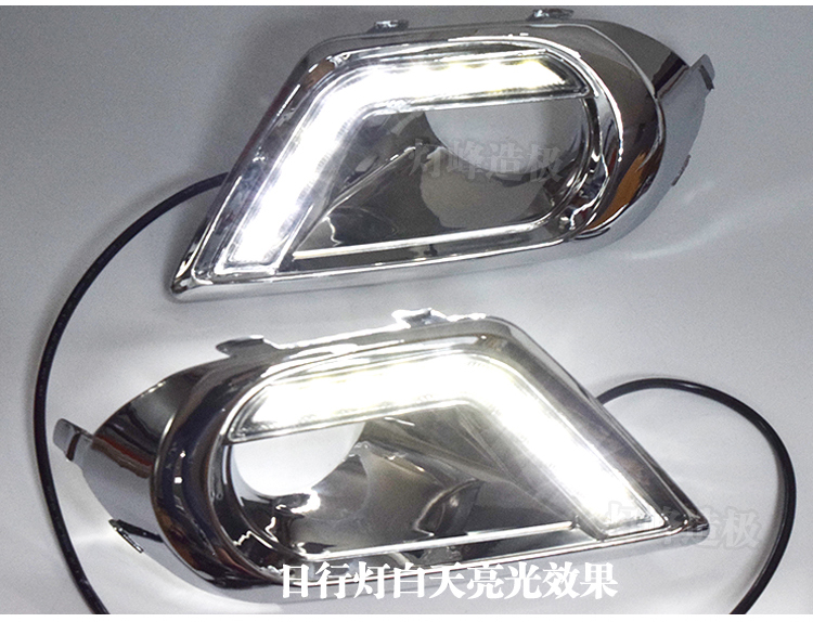 Osmrk new arrival led drl daytime running light for forester 2013 2014 2015, with fog lamp cover, chrome plating versionOsmrk new arrival led drl daytime running light for forester 2013 2014 2015, with fog lamp cover, chrome plating version