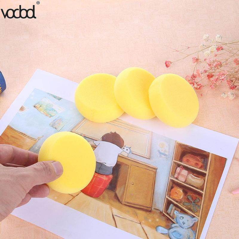 4pcsset DIY Graffiti Sponge Painting Brushes for Kids Drawing Toys Kindergarten Early Educational Toys School Office Supplies