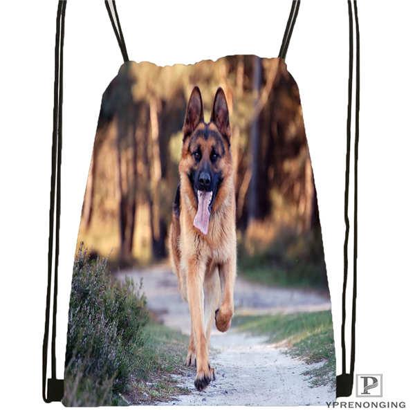 Custom Dog-australian-shepherd Drawstring Backpack Bag Cute Daypack Kids Satchel (Black Back) 31x40cm#180611-01-49