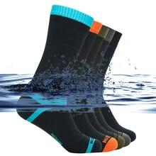Alta qualidade à prova dwaterproof água meias das mulheres dos homens escalada caminhadas esqui ciclismo meias ao ar livre quente respirável pesca skate meias