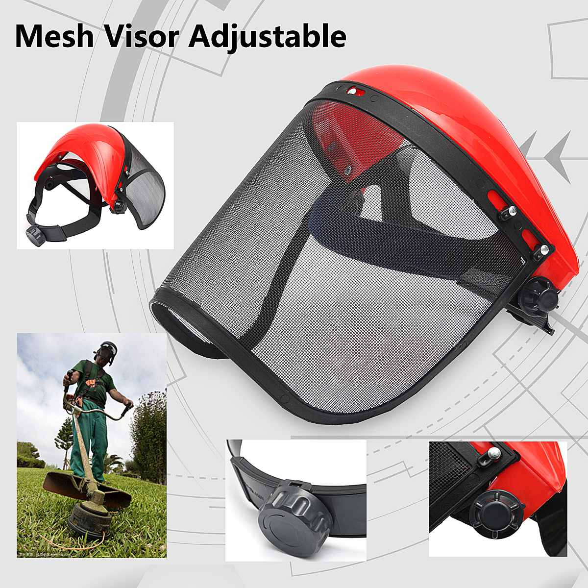 1Pcs New Faces Mask Industrial Work Protective Mesh Screen Faces Shield Clear Safety Workwear Mask Eye Protection Flip Up Visor
