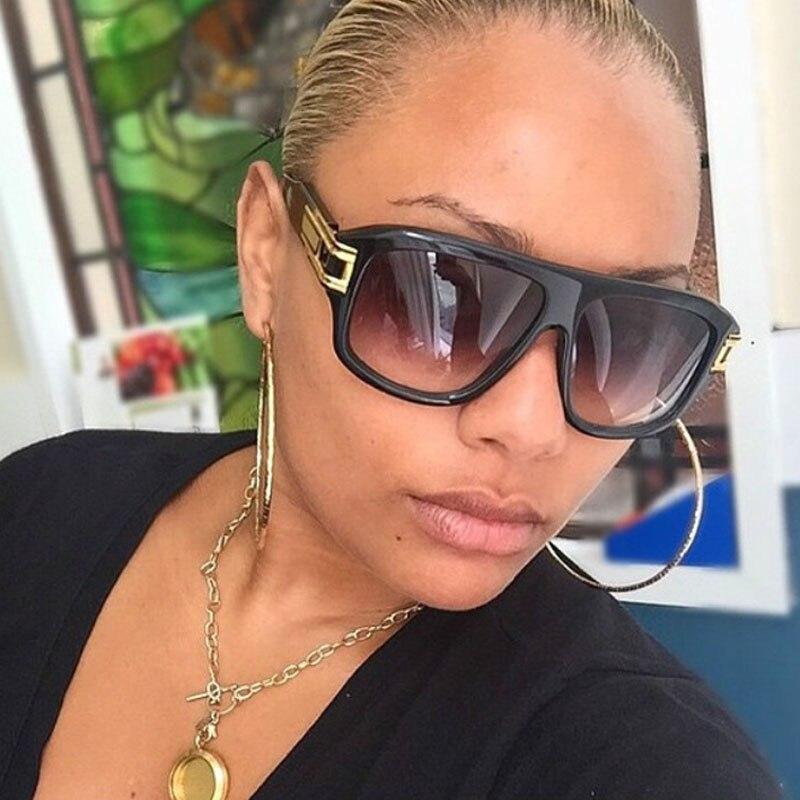 b591f446c3e2c Moda Retro Designer de Óculos De Sol De Luxo Grande Quadro Das Mulheres Dos Homens  de Grandes Dimensões Sunlasses Basquete Estrela Favorita Óculos de Sol ...