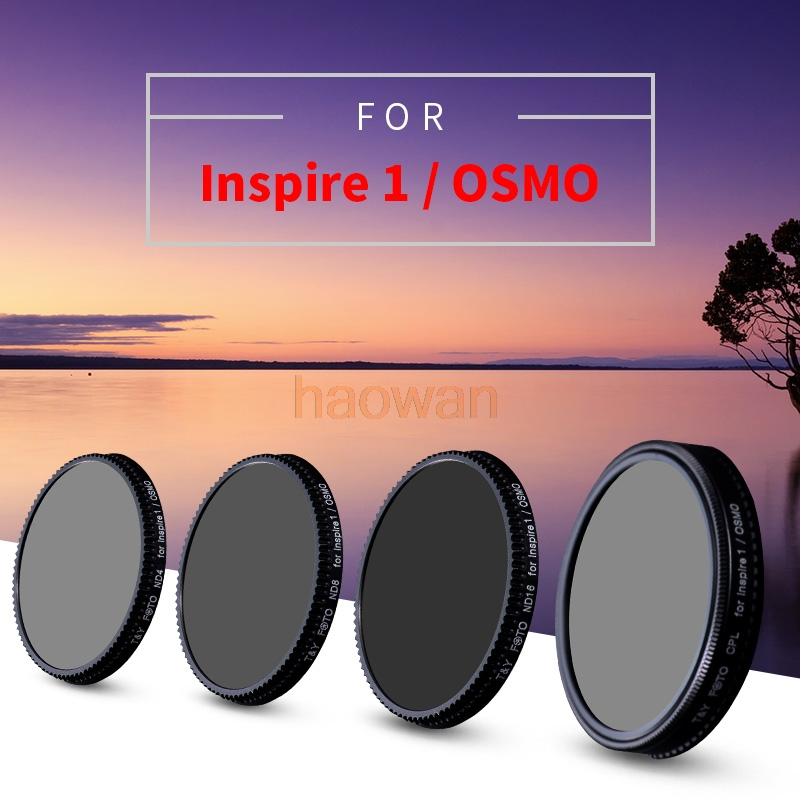 wtianya cpl+nd4+nd8+nd16 Neutral Density nd Lens Filter Protector for DJI inspire 1/osmo camera wtianya cpl mcuv nd4 nd8 nd neutral density lens filter protector for dji phantom 3 phantom 4 camera