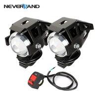 2 PCS 125W Waterproof Motorcycle LED Headlight 3000LMW CREE U5 Motorbike LED Driving Fog Spot Head