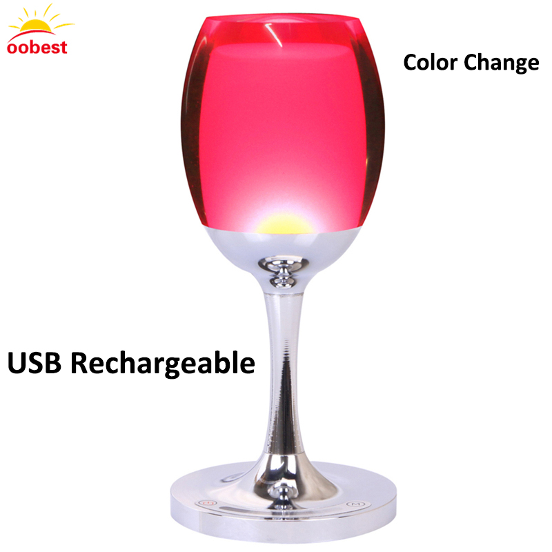 LED Wine Cup Table Desk Lamp light Touch Sensor Cordless  Home Bar wedding decoration Decor festival Birthday Christmas Gift 100pcs lot red rose table decoration place card wedding party decoration laser cut heart floral wine glass paper place cards