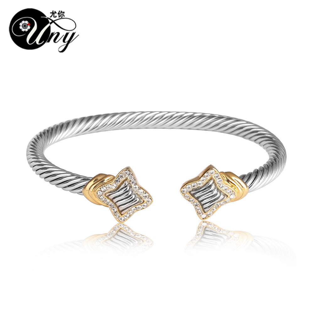 UNY Bangle Twisted Wire Bracelet Antique Cable Bangles Luxury ...