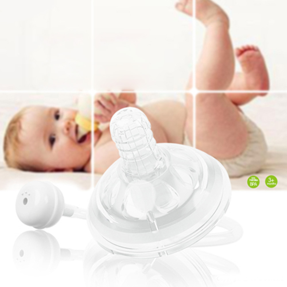 Buy Baby Bottle Nipple Extra Large Wide Anti-flatulence Silicone Opening Latex Breast Feeling Pacifier Bottle Accessories Wholesale