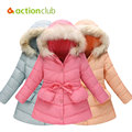 Actionclub Girls Winter Clothes Baby Girls Warm Duck Down Jackets Children Winter Coat Outerwear Kids Long Style Clothing