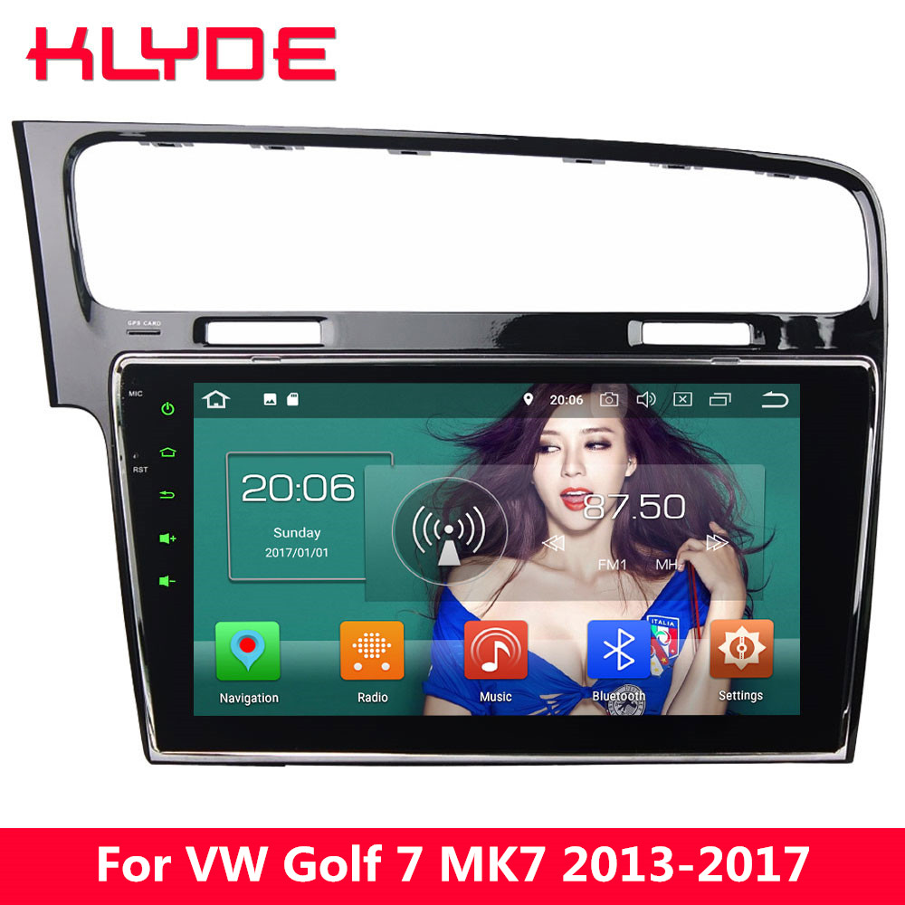 KLYDE 10.1 4G Octa Core Android 8 4GB RAM 32GB ROM Car DVD Player Radio For Volkswagen VW Golf 7 MK7 2013 2014 2015 2016 2017 for volkswagen vw golf 7 mk7 2013 2014 2015 stainless steel car speaker cover door bottom audio sound frame case accessories