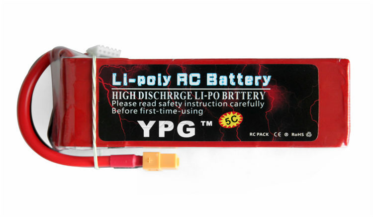 YPG <font><b>5200mah</b></font> 14.8V 40C <font><b>4S</b></font> <font><b>Lipo</b></font> Li-Po Lipoly Battery for RC Helicopter & Airplane & Car image
