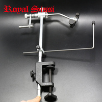 1 Set High Quality Fly Tying Vice With C Clamp Black Handle Steel Stainless Hard Jaws