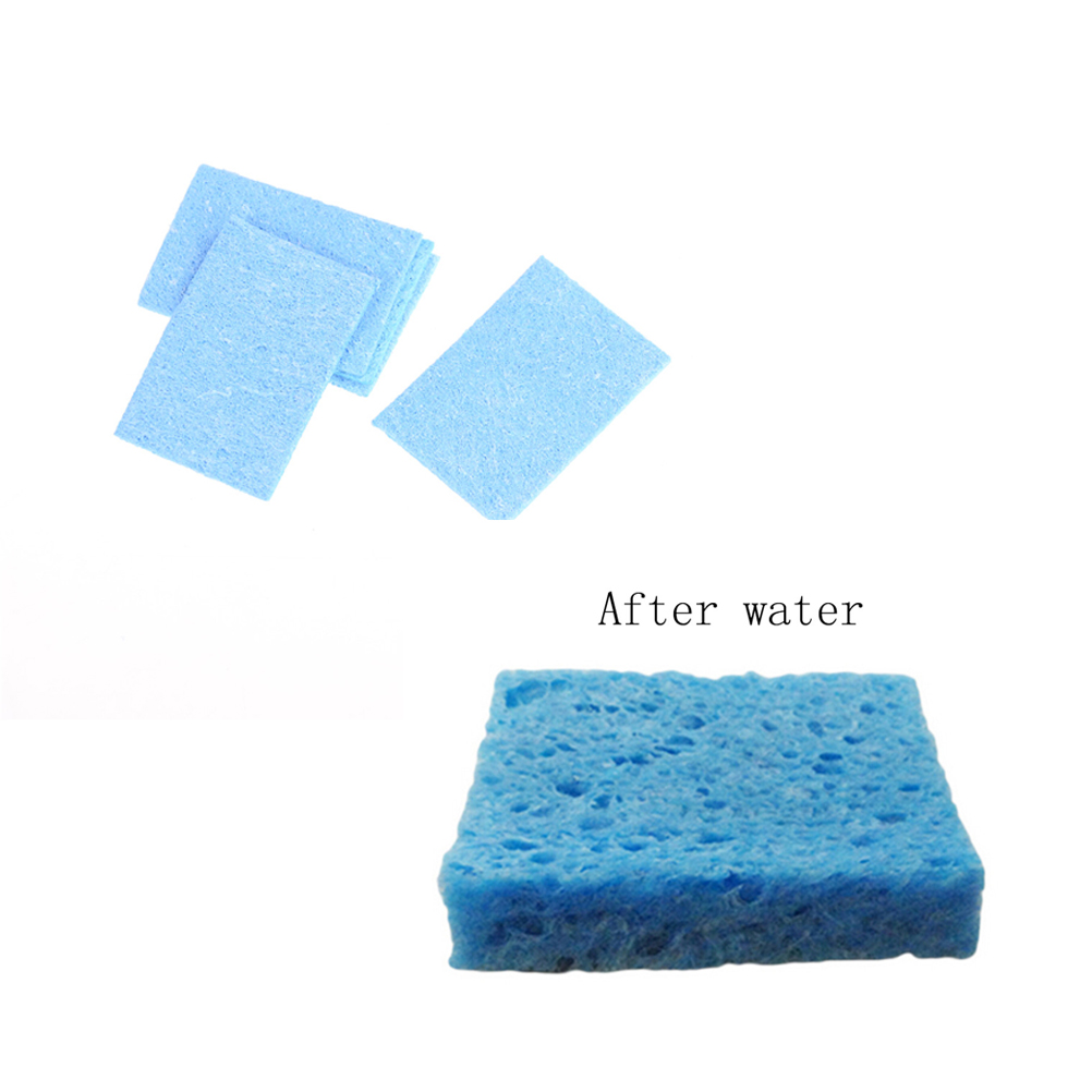5pcs/lot Solder Iron Tip Cleaning Sponge Pads Welding Cleaning Sponge Pads  Soldering Iron Solder Tip Hand Tool