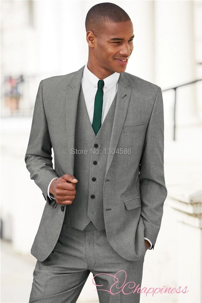 Men Light Grey Suit - Hardon Clothes