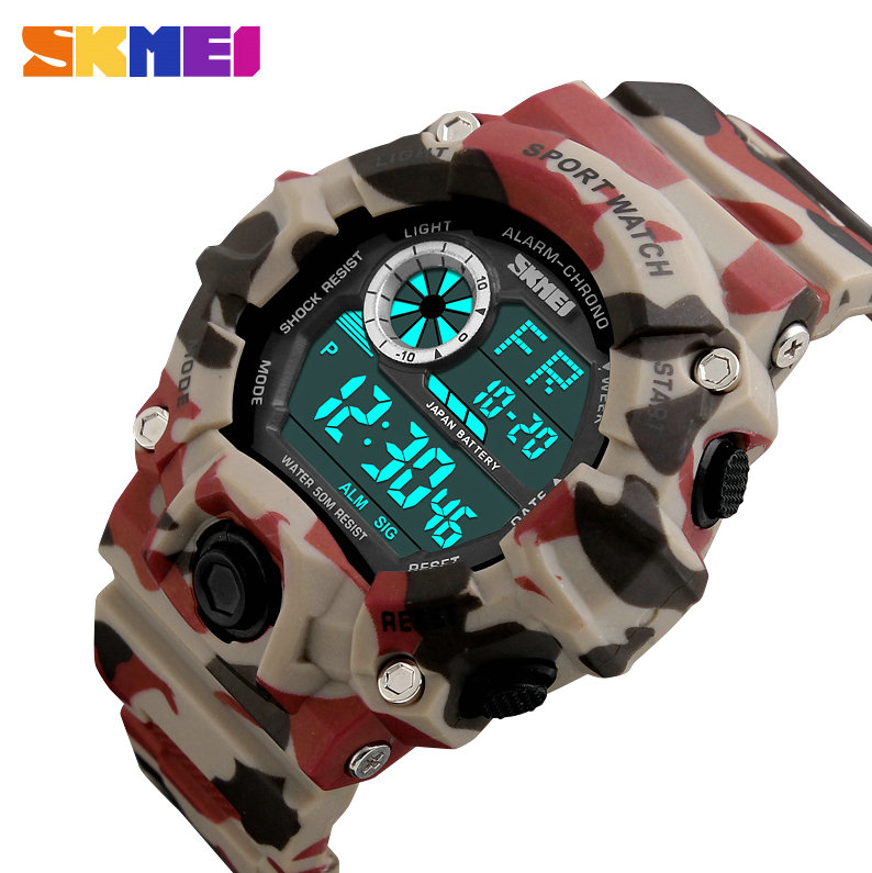 <font><b>SKMEI</b></font> Army Military Watch Sport Watches Men Waterproof Shock Watch LED Digital Wristwatches Relogio Masculino Horloge Mannen New image