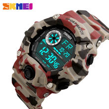 bbb8b238d8f0 SKMEI reloj militar ejército relojes hombres impermeables choque reloj LED  Digital relojes de pulsera Relogio Masculino
