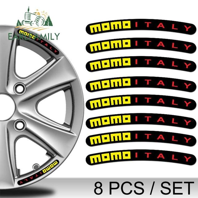 EARLFAMILY 10cm x 1cm 4x Domed Rim Wheel Stickers Stripe Auto Emblem Motorcycle Tuning Car Sticker Waterproof Flat Glue Sticker