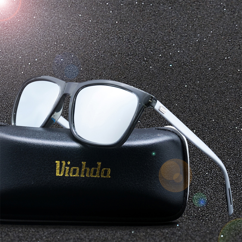 VIAHDA Aluminum +TR90 Men's Polarized Mirror Sun Glasses Male Driving Fishing Eyewears Accessories Sunglasses For Men