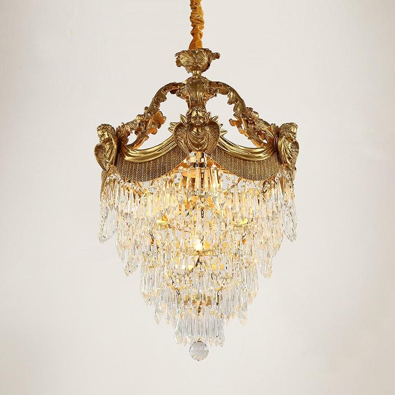 Transporti Falas Llambë varëse bronzi antike kristal dekorative - Ndriçimit të brendshëm
