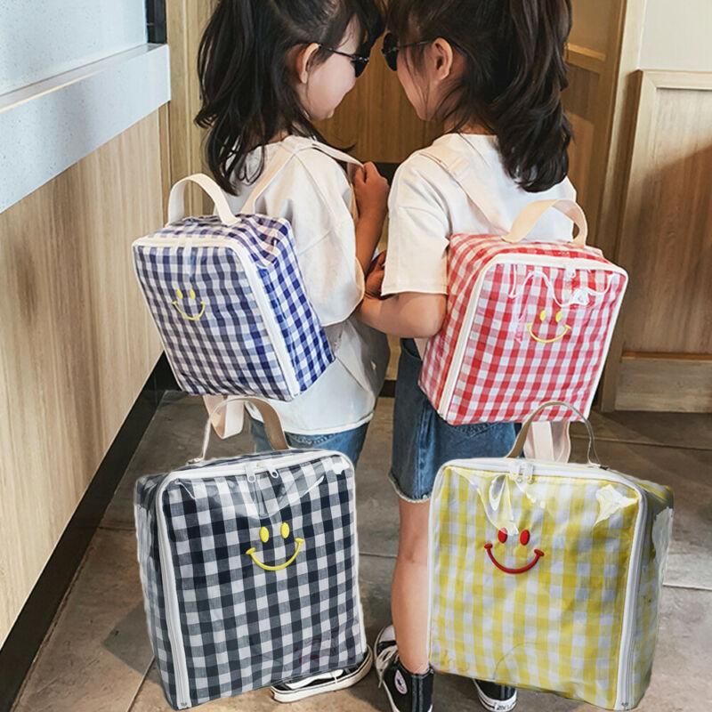Купить с кэшбэком Toddler Kids Children Transparent Boy Girl Plaid Backpack Schoolbag Rucksack Baby Girl Boy Fashion Organizer Storage  Backpacks