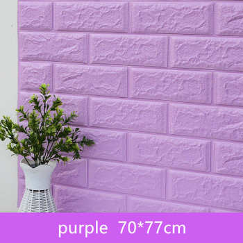 DIY Self Adhensive 3D Brick Wall Stickers Living Room Decor Foam Waterproof Wall Covering Wallpaper For TV Background Kids Room 16