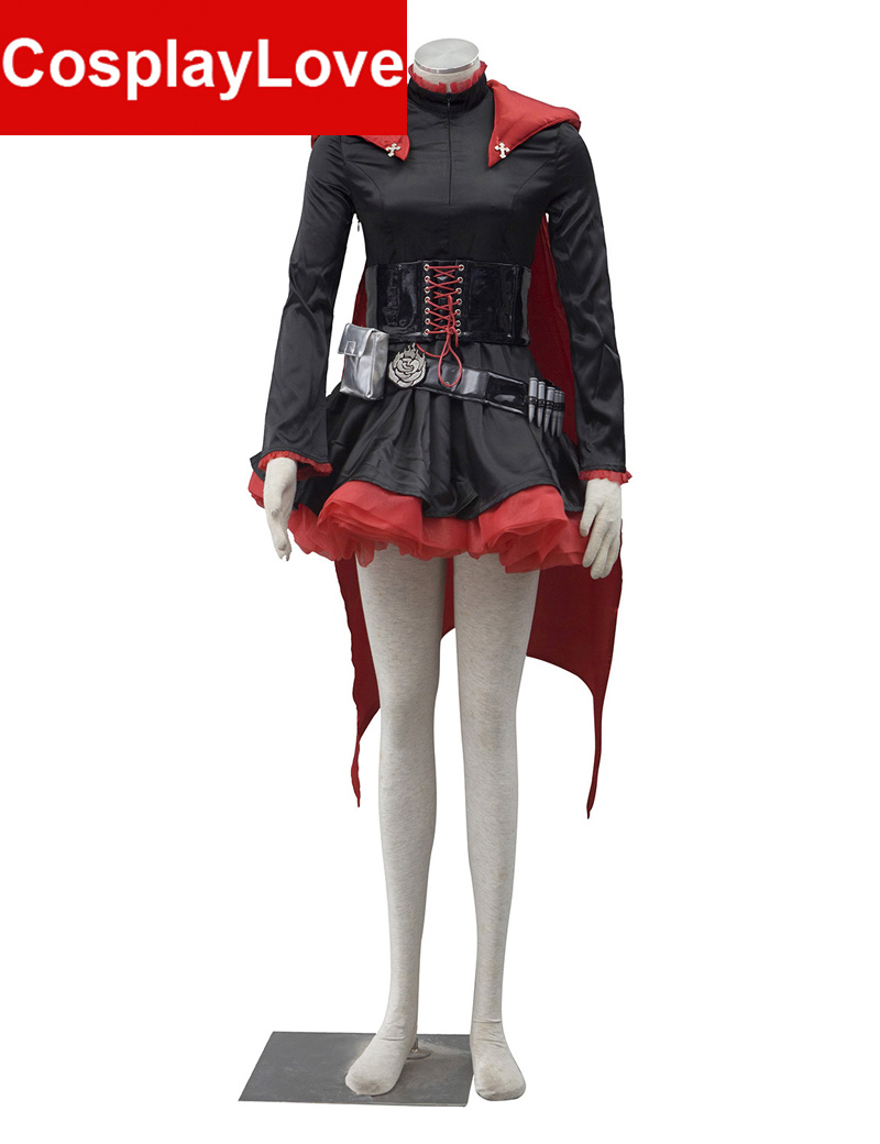 De înaltă calitate RWBY Red Trailer Ruby Rose Costum Cosplay RWBY - Costume carnaval