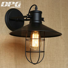Industrial Wall Sconce Country Loft Antique lights American Classic Sconce for Home Indoor Bedside Retro Cheap Lighting(China)