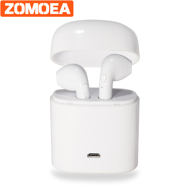 ZOMOEA bluetooth 4.2 headphone wireless earphone with microphone headset mini handfree ear hook headset for iphone Android phone