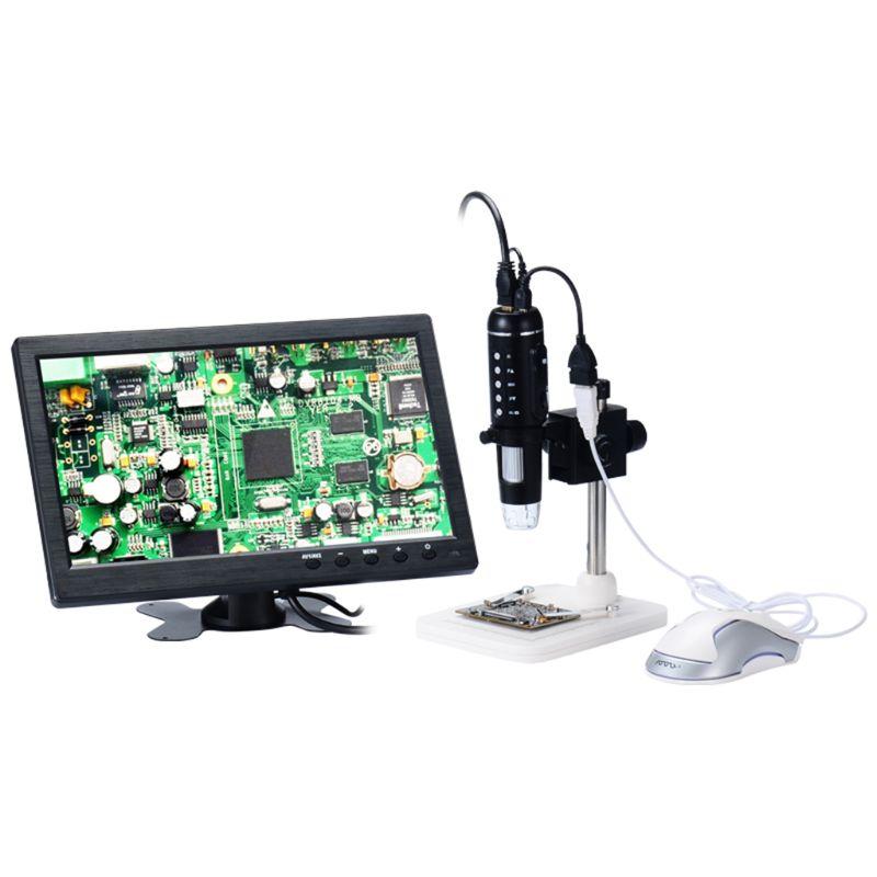 1000X numérique 5MP HD 1080 P lumen réglable 8LED lumière HDMI Microscope caméra loupe avec Base Support US prise Support souris