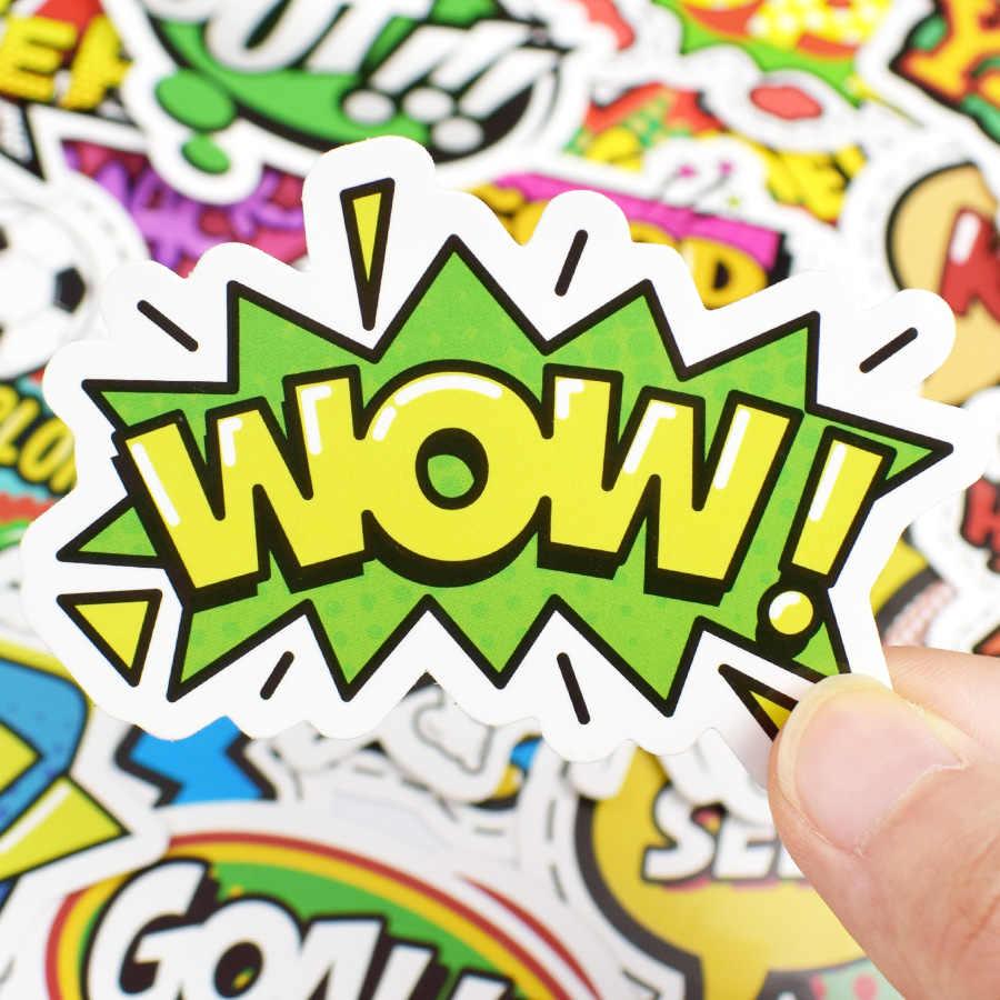 50 Uds. Juguetes de pegatinas de texto estilo Pop para niños, pegatinas creativas de Buzzword LOL, Gadgets de regalo para DIY, álbum de recortes, maleta para portátil