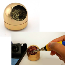 best quality 66mm Golden Soldering solder Iron Tip Cleaner Ball With stainless Steel Wire sponge free shipping free shipping brand new 1pcs wire with stand set welding soldering solder iron tip cleaner cleaning steel hot selling