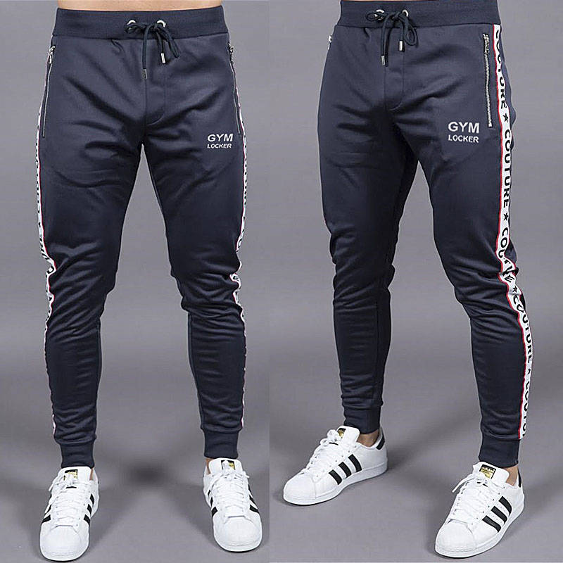 2018 men's GYMS logo men's Sweatpants autumn and winter men's gyms fitness trousers jogger fashion casual pants men's trousers