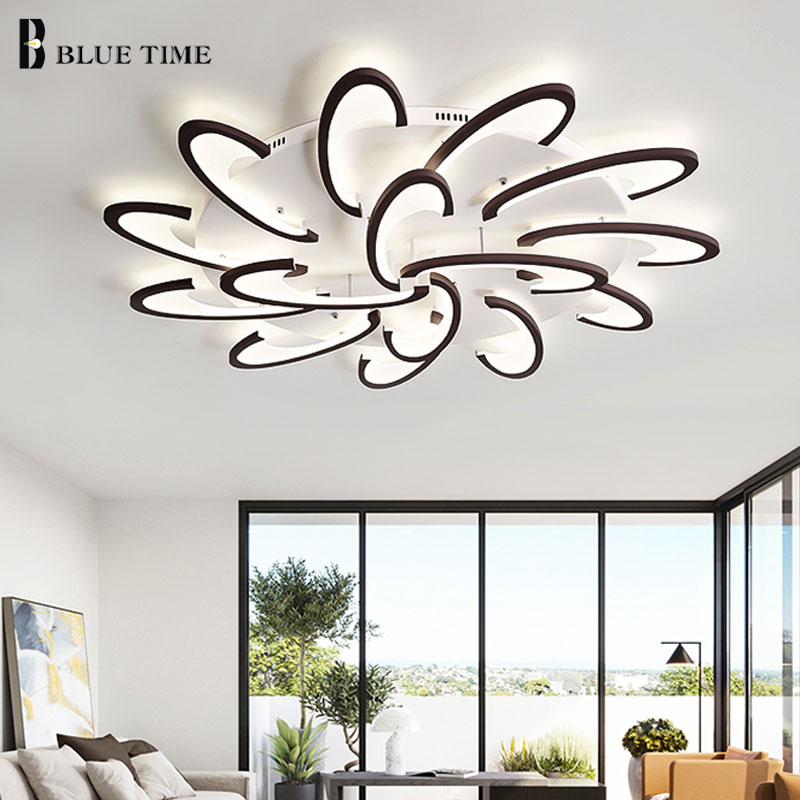 New Arrival White Black Modern Led Ceiling Lights For Living Room Bedroom Acrylic Ceiling Lamp Lustres