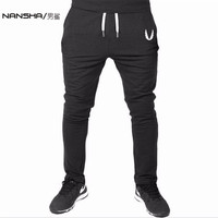 Men GASP GOLDS Sports Gym Pants Casual Elastic Cotton Mens Fitness Workout Pants Skinny Sweatpants Trousers
