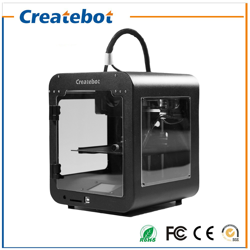High Quality CreatebotSuper mini 3D Printer Touch Screen Single extruder impresora 3d 85*80*94mm Printing Size 3D Metal Printer high precision createbot super mini 3d printer no assembly required metal frame impresora 3d 1roll filament 1gb sd card gift