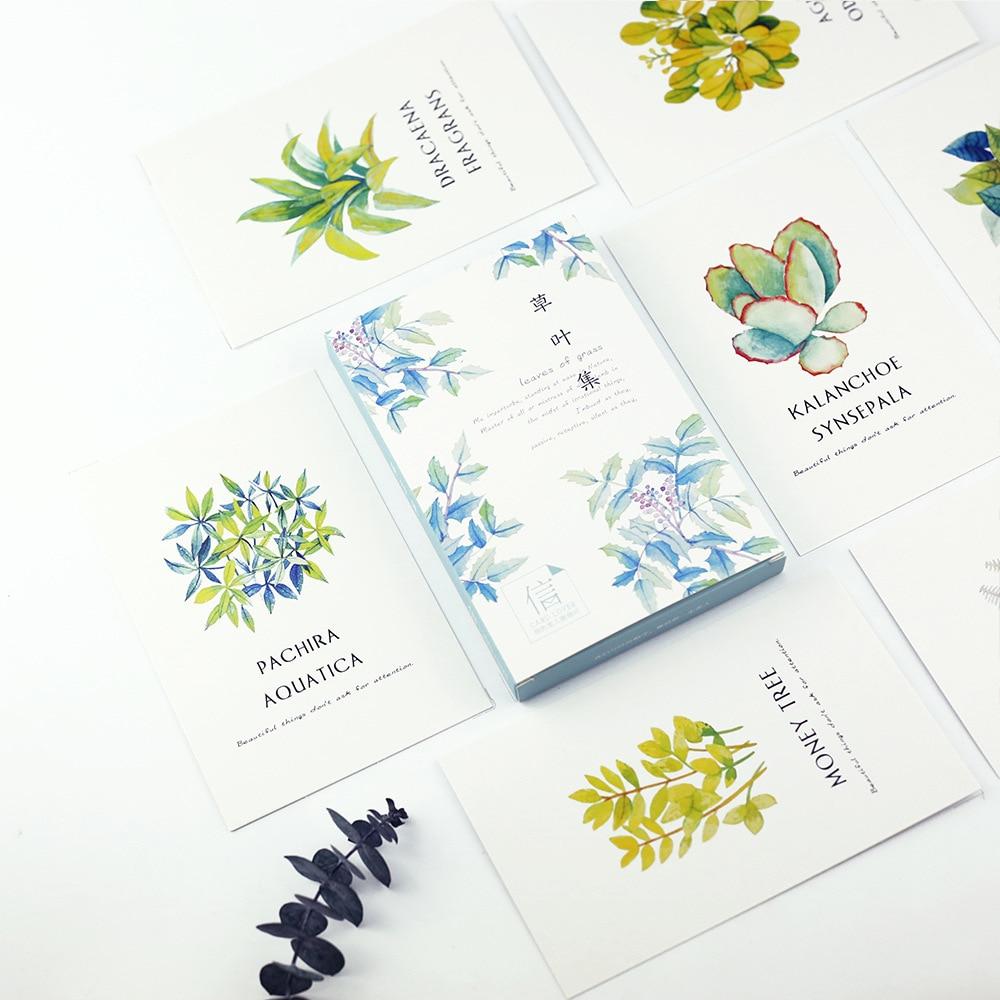30sheets Lot Leaves Of Grass Postcard Greeting Card Wish Googleplay Gift 100k Kids Chrismas