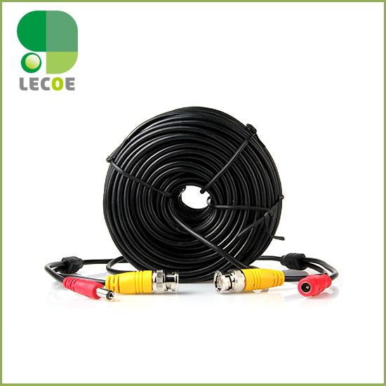 30M/20M/10M CCTV Cable BNC + DC plug Power extension cable for CCTV Camera and DVRs  coaxial Cable  high quality 40m cctv cable bnc dc plug video and power cable for cctv camera and dvrs black color coaxial cable free shipping