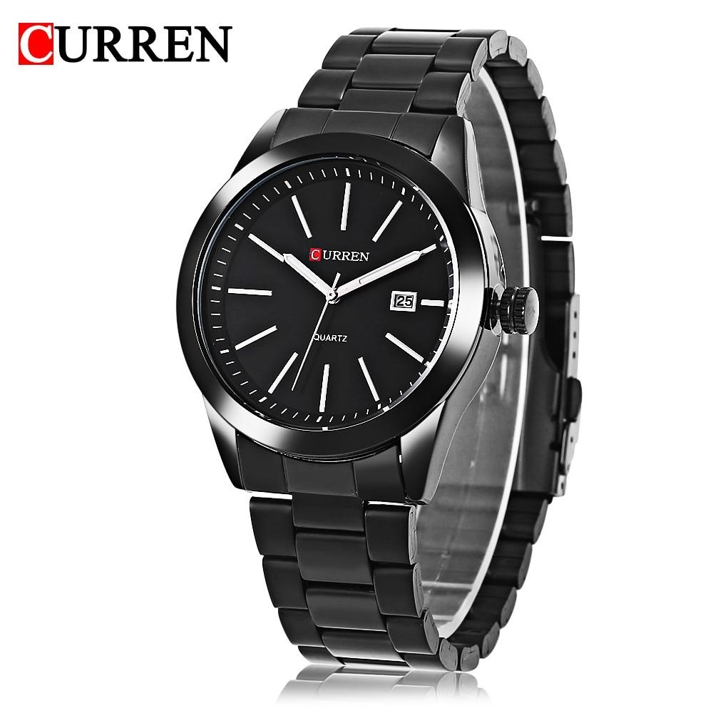 Hot Sale Curren 8091 man Fashion Quartz-watch Casual Brand Relogio Masculino Water Resistance Stainless Steel Strap Wristwatch
