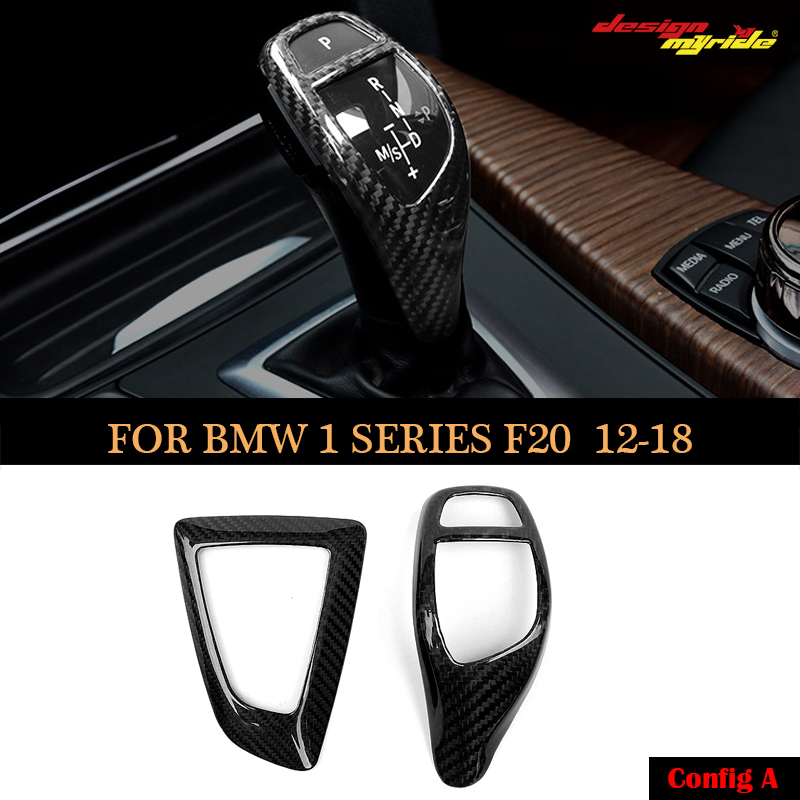 For BMW all series automatic speed gear shift knob head carbon fiber cover e81 e90 f20 f22 f30 f32 f10 x3 x4 x5 x6 shifter trim