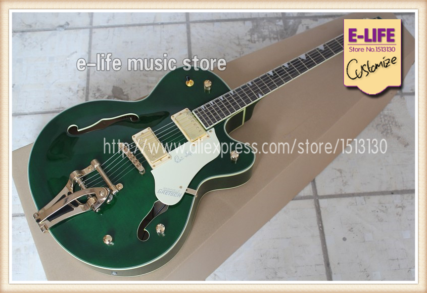 excellent feedback worthy price gretsch hollow maple body electric guitar gold hardware china. Black Bedroom Furniture Sets. Home Design Ideas