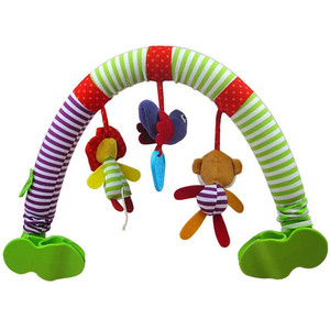 Image 2 - SOZZY Baby Hanging Toys Stroller Bed Crib For Tots Cots rattles seat plush Stroller Mobile Gifts animals Zebra Rattles 40% off