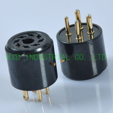 2pcs Adapters 4pin to 8pin Ceramic Gold Tube Socket for Amplifier Parts Guitar