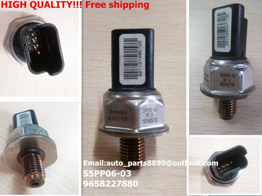 55pp06 03 new genuine fuel rail pressure sensor for peugeot 107 206 207 307 308 407 partner 1. Black Bedroom Furniture Sets. Home Design Ideas