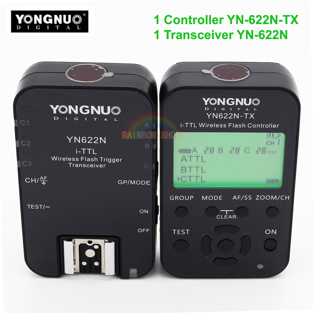 Yongnuo YN622N YN622N-TX KIT i-TLL Wireless Flash Trigger Transceiver for Nikon Camera for Yongnuo YN565 YN568 Flash 3pcs yongnuo wireless ttl flash trigger yn622 yn 622 yn622n tx for nikon radio 1 8000s d7100 d5200 d5100 d5000 d3200 d3100 d3000