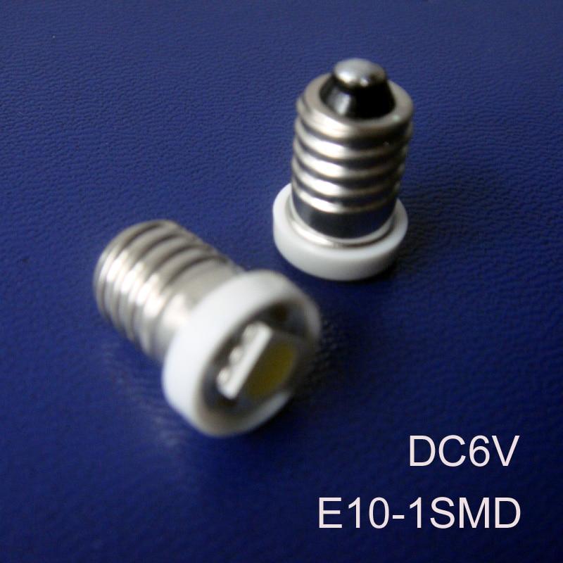 High quality 6V 6.3V E10 Led Signal Light,E10 Led Bulb Lamp Light,Led Indicator lamp,Led Warning light free shipping 20pcs/lot