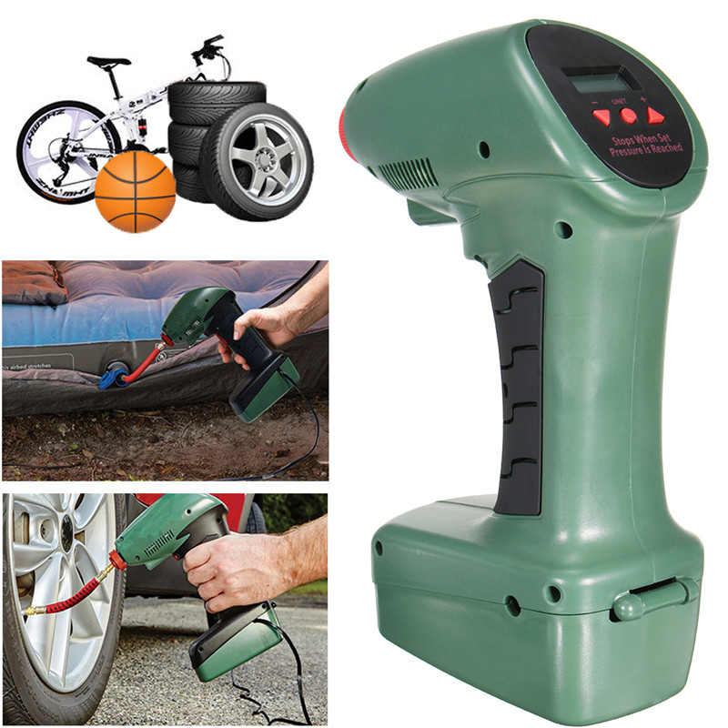 New Arrival Multi-function LCD Digital Air Compressor Car Bike Ball Tire Inflator Pump Emergency Tool Set new arrival 12v 4800pa ac car electric air pump for camping airbed boat toy inflator