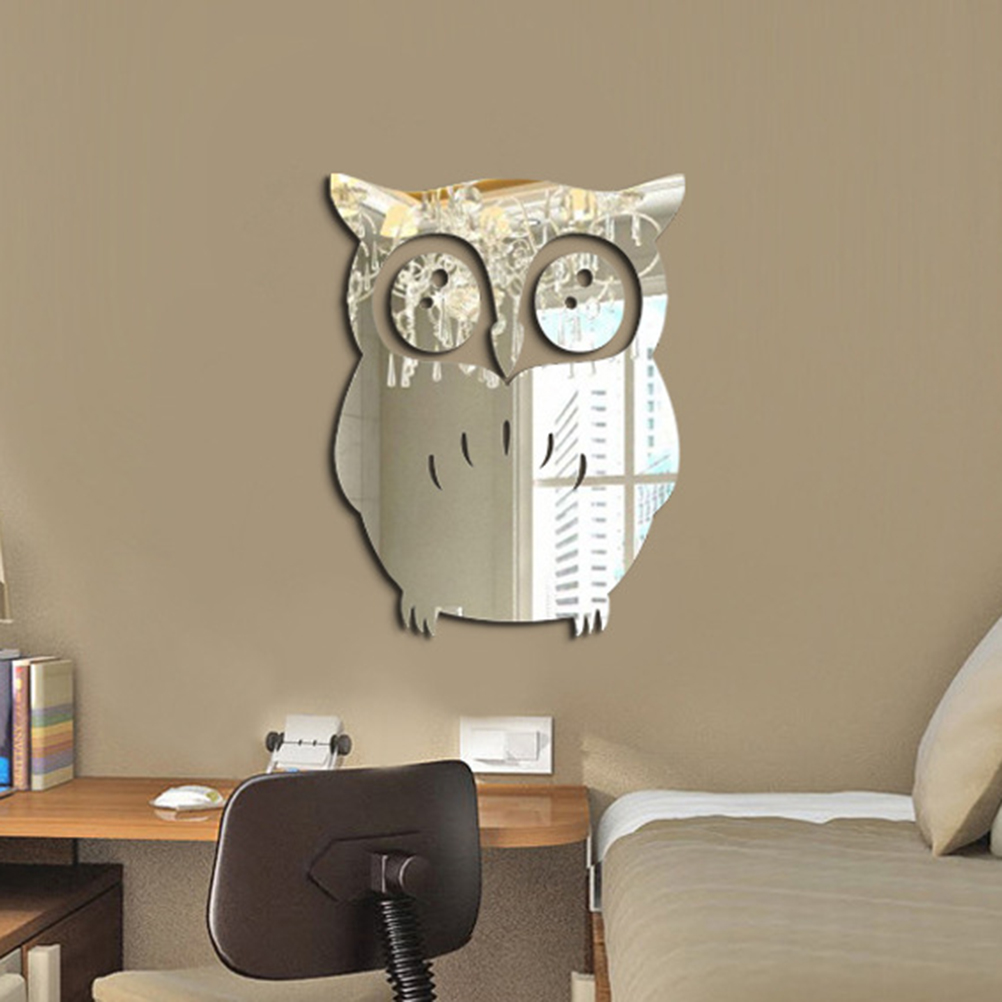 Beau 3D Wall Sticker Owl Mirror Stickers For Home Living Room Office Decor In  Wall Stickers From Home U0026 Garden On Aliexpress.com | Alibaba Group