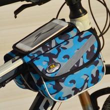 Bicycle before top-bag-bag cycling bicycle frame saddle package for mobile touchscreen waterproof bike accessories