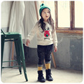 2016 new winter coat girls all-match Santa Claus T-shirt sweater shirt thickening