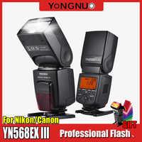 YONGNUO YN568EX III C N Flash Speedlite 568EXC N III TTL Maestro de alta velocidad Sync 1/8000s para CANON 5D2 5D3 6D 7D 60D para nikon