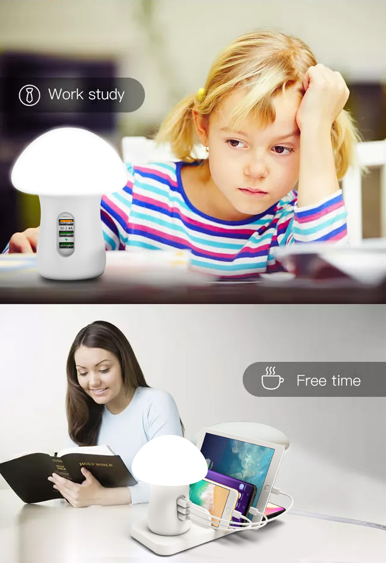 Desk Lamp Quick Charge 3.0 USB Charger (15)